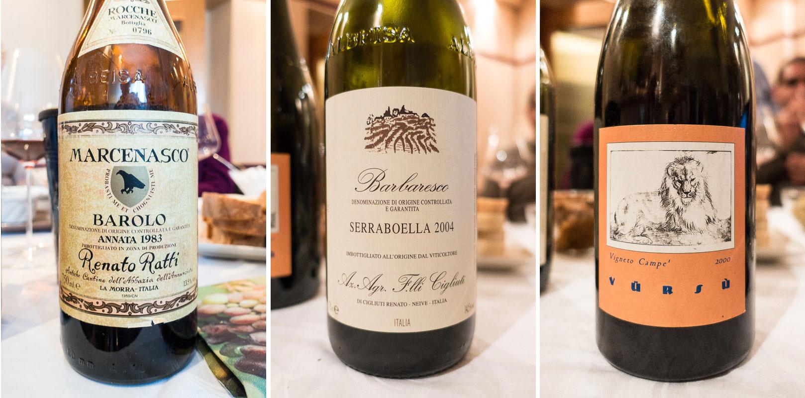 Weinprobe Barolo und Freunde