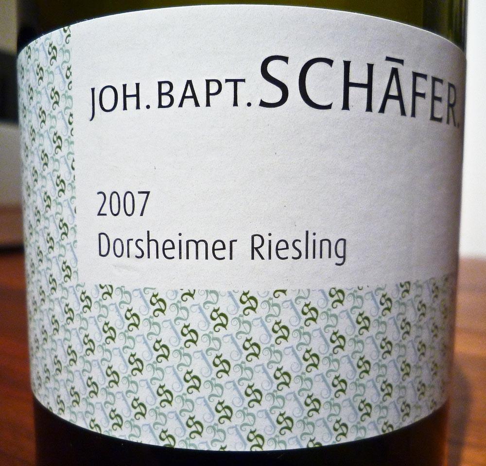 Joh. Bapt. Schäfer Dorsheimer Riesling 2007 (1 von 1)