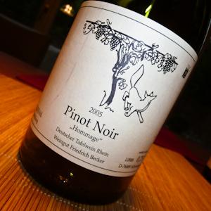 Becker Pinot Noir Hommage 2005-100