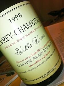 Burguet Gevrey-Chambertin Vieilles Vignes, 1998-100