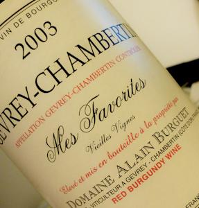 Burguet Gevrey-Chambertin Mes Favorites, 2003 (100 von 1)