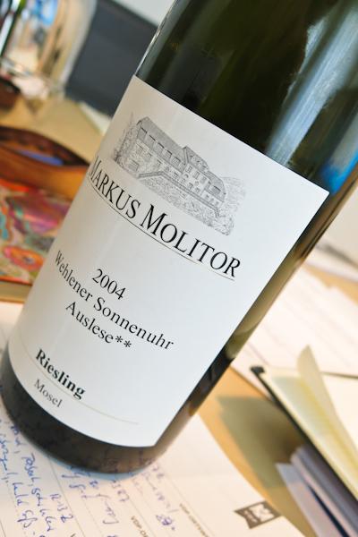 Markus Molitor Riesling Auslese -- trocken Wehlener Sonnenuhr, 2004 (1 von 1)